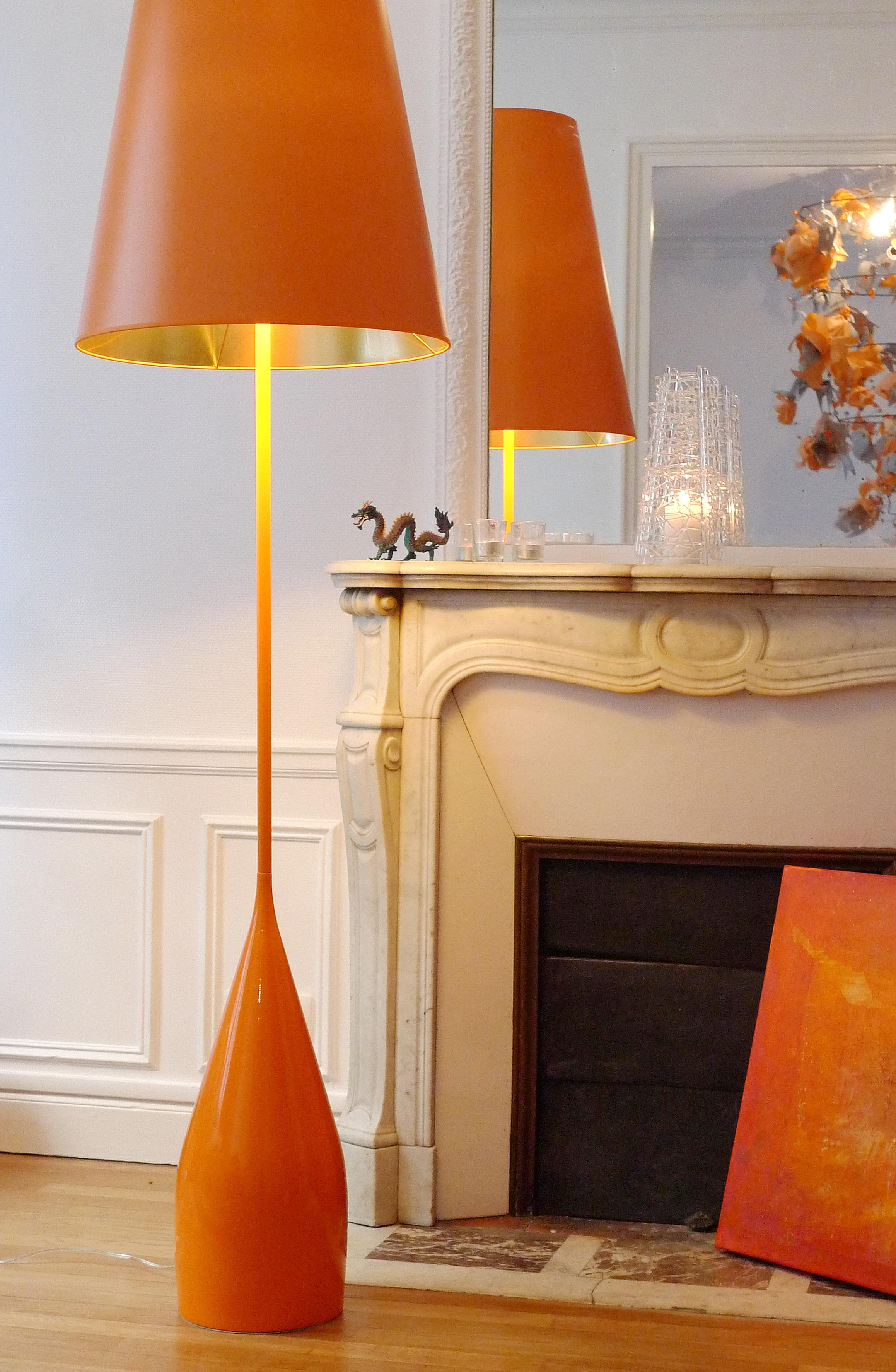 2 -El Huré Ad'Int & Décoration Florale - Photophore LaMagieduVerre& duFeu - Orange Organique peint IsaLecomte- 13 03 2016 - L1200446